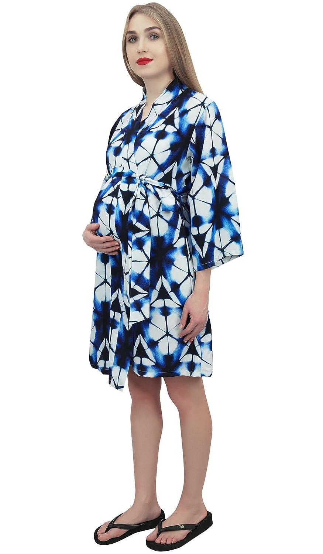 Bimba Bata de Maternidad para Mama con Cinturon Shibori Printed Nursing Coverup: Amazon.es: Ropa y accesorios