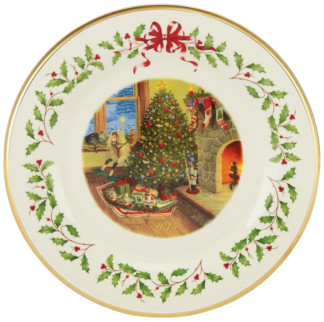 Amazon.com: Lenox Holiday 2015 Holiday Collectors Plate, 25th ...