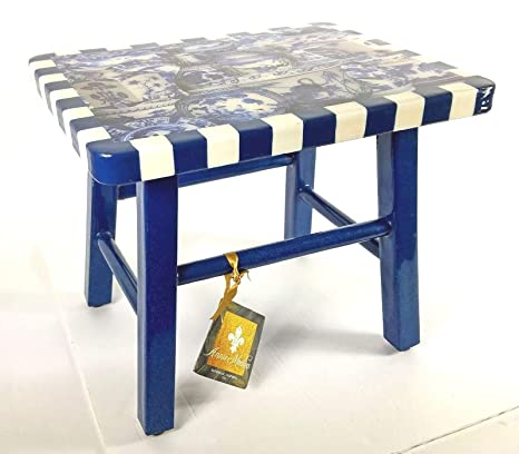 Pleasing Amazon Com Annie Modica Imari 12 Footstool Step Stool Machost Co Dining Chair Design Ideas Machostcouk