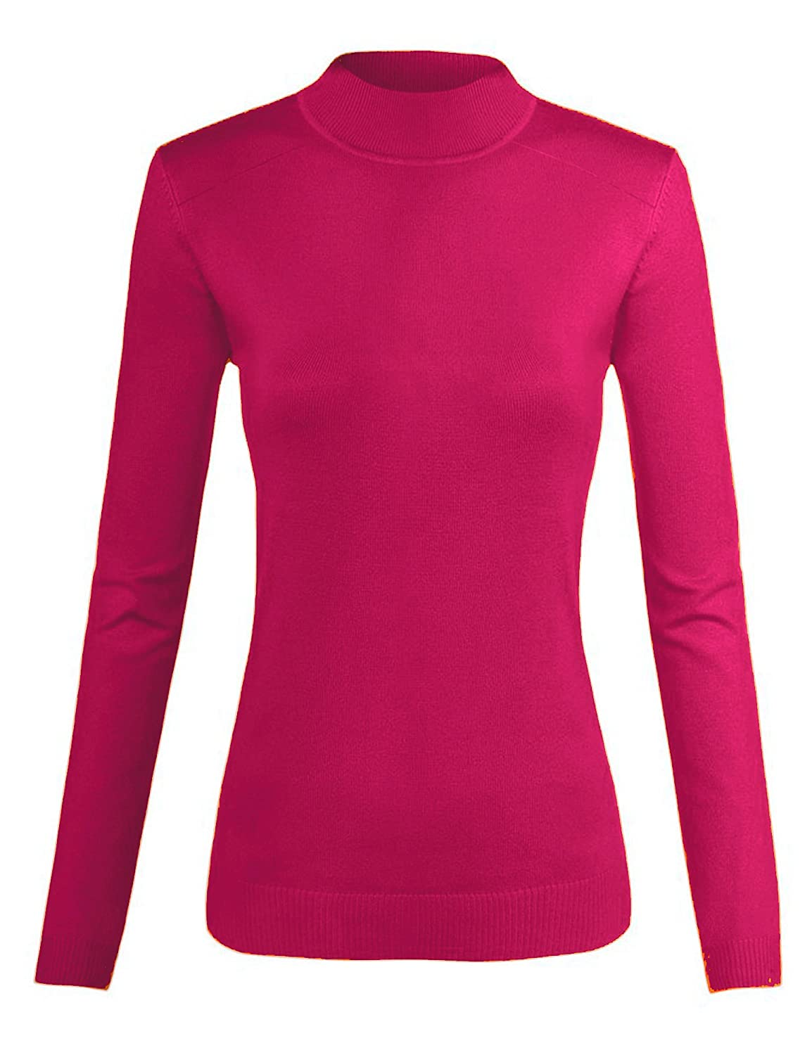 Top Legging Women's Comfy Long Sleeve Basic Mock Turtleneck Knitted Sweater