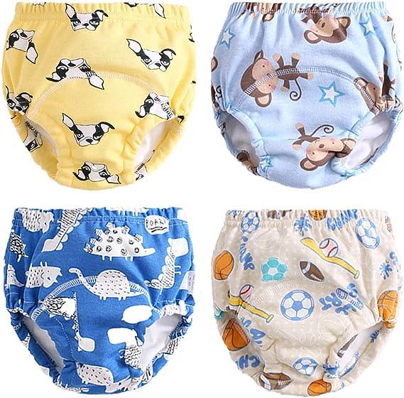 Culotte dapprentissage Lavables B/éb/é Morbuy Coton Couche-Culotte Anti-Fuite Potty Pantalon de Formation Imperm/éables pour Gar/çon et Fille