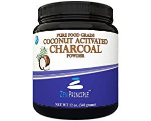 LARGE 12 Oz. Coconut Activated Charcoal Powder. Whitens Teeth, Rejuvenates Skin and Hair, Detox and helps Digestion. Treats Accidental Poisoning, Bug Bites and Wounds. USA-Owned Producers, FREE scoop