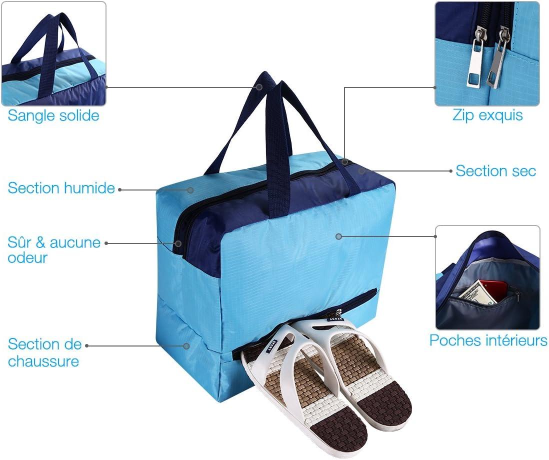 Sac de Natation Imperméable à L/'eau Sèche et Humide Poche De Chaussures Poignée