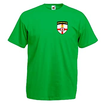 premium selection 4a440 68207 Northern Ireland Retro Style National Football Team Soccer ...
