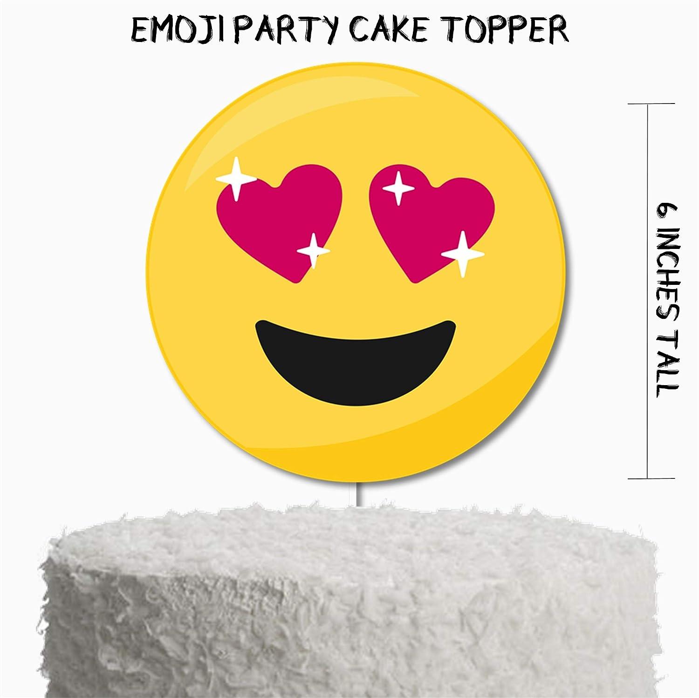Emoji Birthday Party Cake Topper Decor Supplies