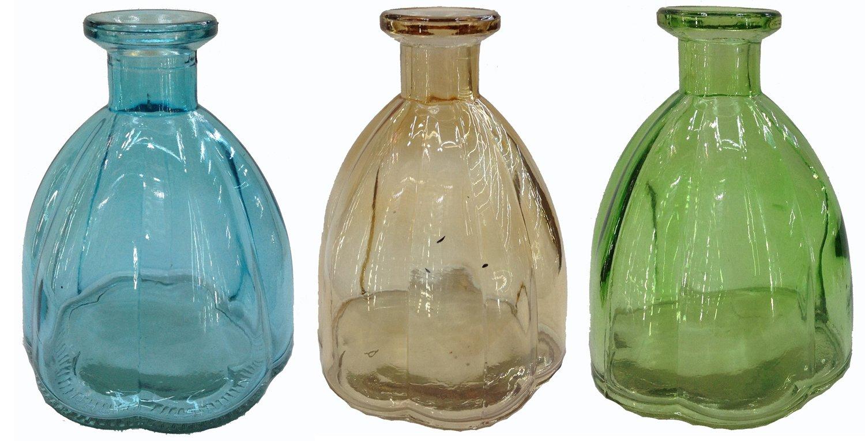 Botiquín Decorar Botella Cristal 3 pieza corcho Cristal corcho vasos Botella Botella de Licor farmacia Cristal Vintage Cristal: Amazon.es: Hogar