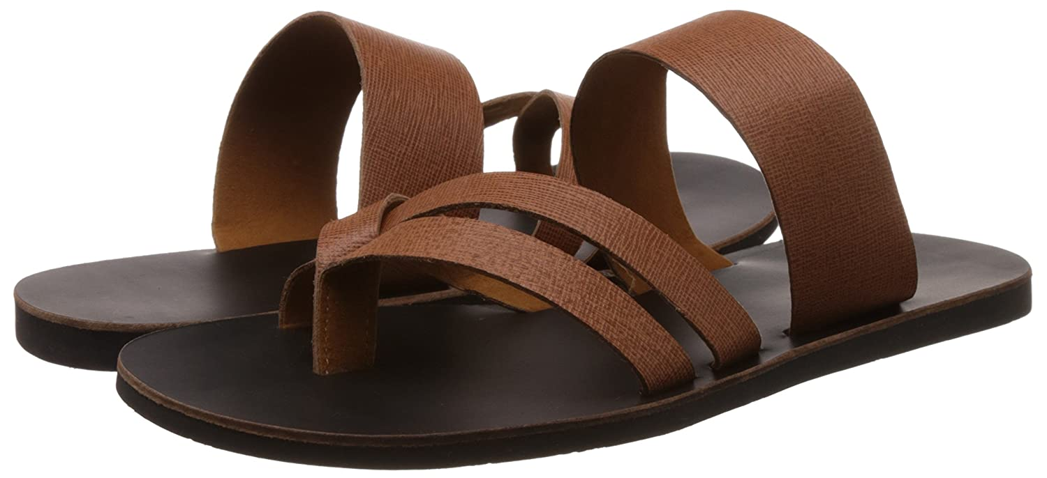 11ba471a17aff5 Tortoise Men s Tan Brown Sandals and Floaters - 10 UK India (45 EU)(TORFF004B10)   Buy Online at Low Prices in India - Amazon.in