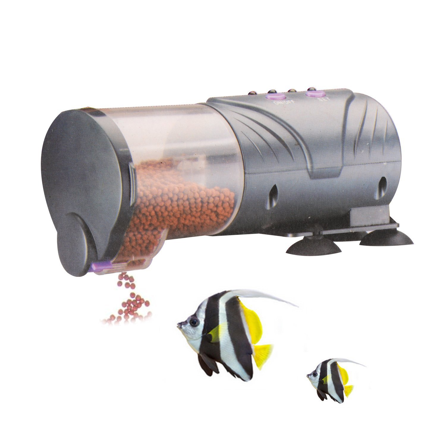Saim Daily Double II Battery-Operated Automatic Fish Feeder