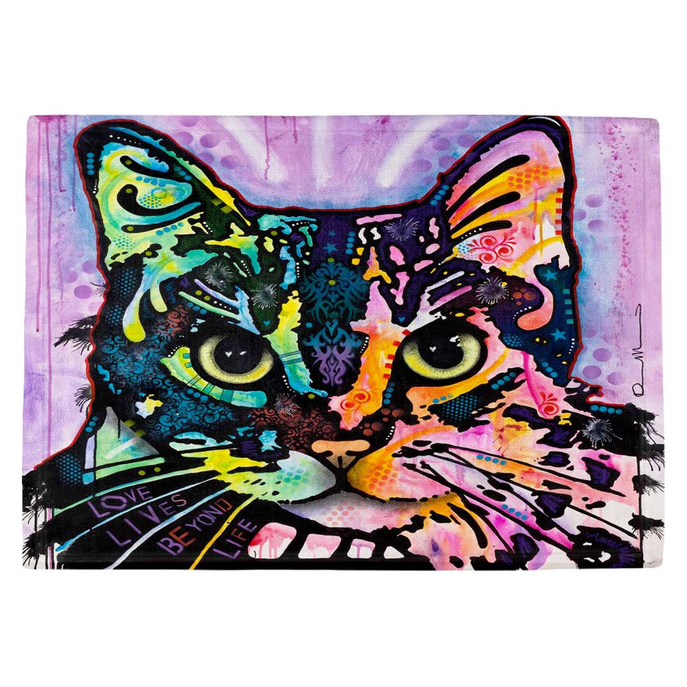 DIANOCHEキッチンPlaceマットby Dean Russo Maya Cat Set of 4 Placemats PM-DeanRussoMayaCat2 Set of 4 Placemats  B01EXSIJ34