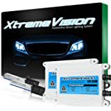 XtremeVision 55W AC Xenon HID Bundle with Slim AC Ballast (1 Pair) and H1 10000K - 10K Dark Blue Xenon Bulbs (1 Pair)