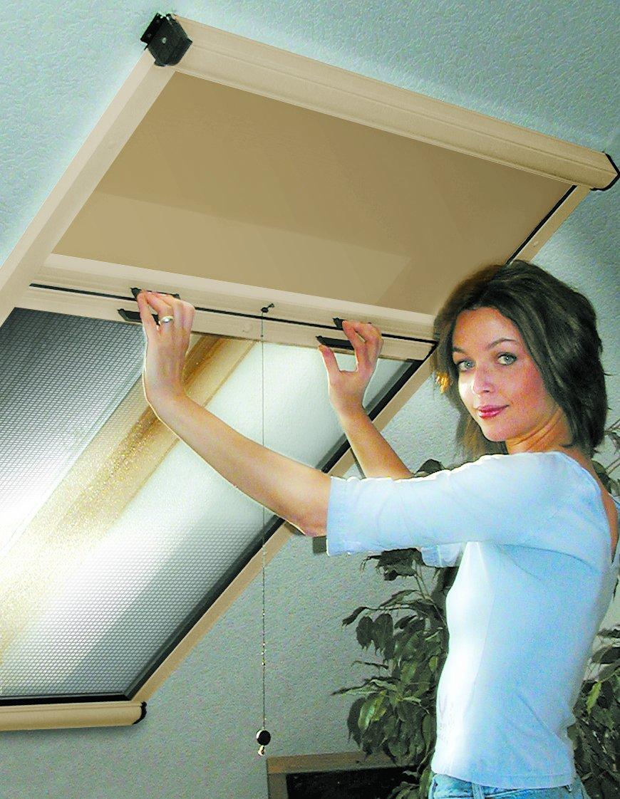Dachschrge Fenster Rollo Finest With Dachschrge Fenster