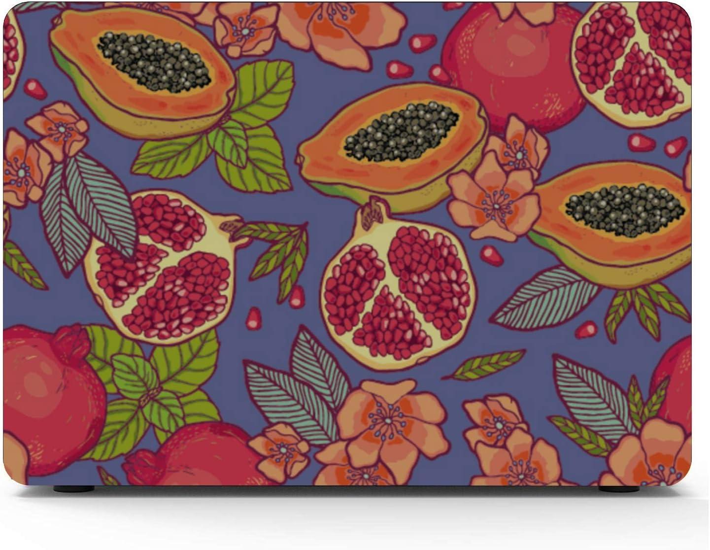 MacBook Pro Covers Summer Tropical Cute Papaya Fruit Plastic Hard Shell Compatible Mac Air 11 Pro 13 15 MacBook Pro Hard Cover Protection for MacBook 2016-2019 Version