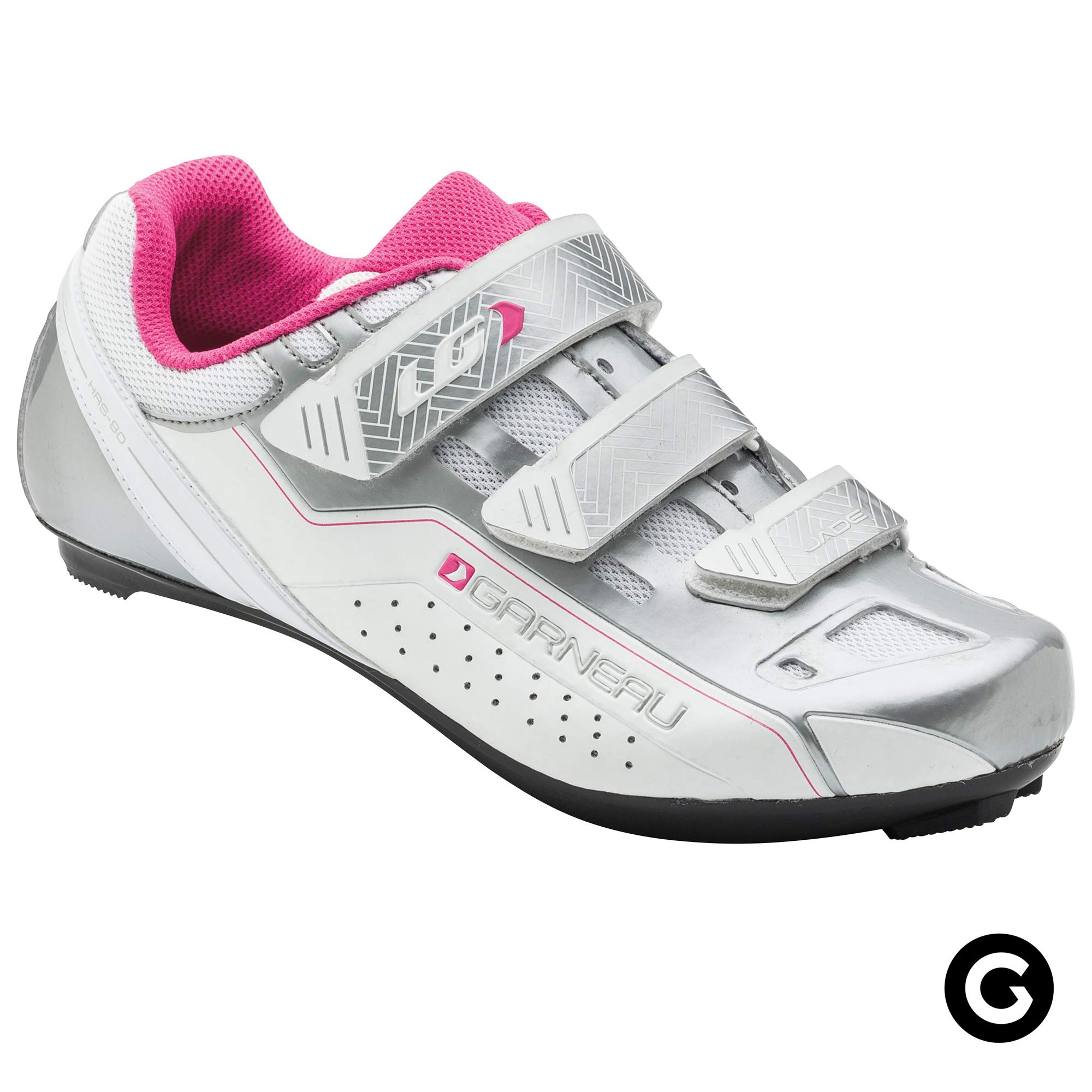 Louis Garneau Women's Jade Bike Shoes for Commuting and Indoor Cycling, Compatible with SPD, Look and All Road Pedals, Drizzle, US (6.5), EU (37) by Louis Garneau