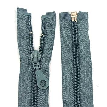 40-85 cm Reißverschluss Nylon Perlonspirale 6 mm teilbar für Jacken Taschen