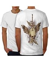 Gloire Décès ange Crâne paradis Enfer Men S-5XL T-shirt le dos   Wellcoda