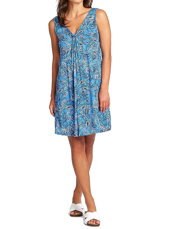 Marks & Spencer Blue Paisley Jersey Beach Vest Dress M&S Summer Cool ...