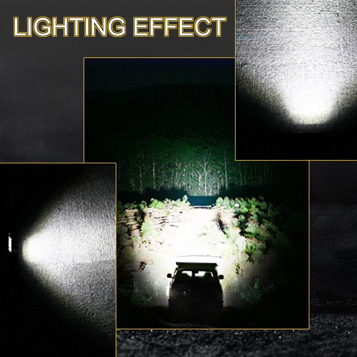 LED Light Bar Rigidhorse 2pcs 3 Row 280W 7 Inch 28000LM Spotlight Floodlight LED Light Bars Off Road Driving Lights Work Lights Fog Light for Pickup UTV ATV Jeep Truck Boat