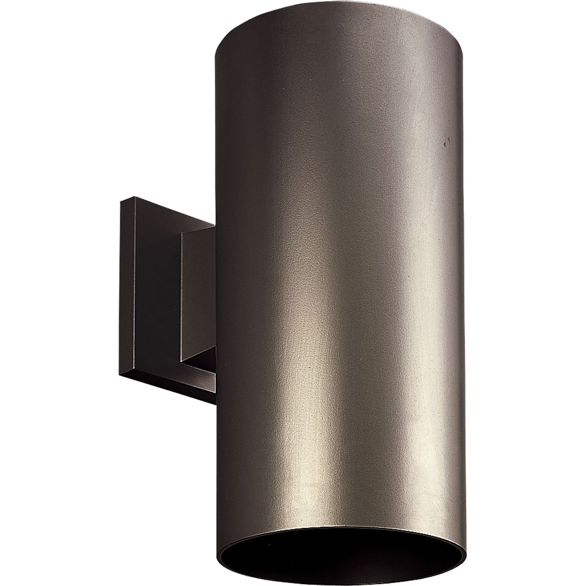 Progress Lighting P5641-20 6-Inch Cylinder with Heavy Duty Aluminum Construction and Die Cast Wall Bracket Powder Coated Finish UL Listed For Wet Locations, Antique Bronze