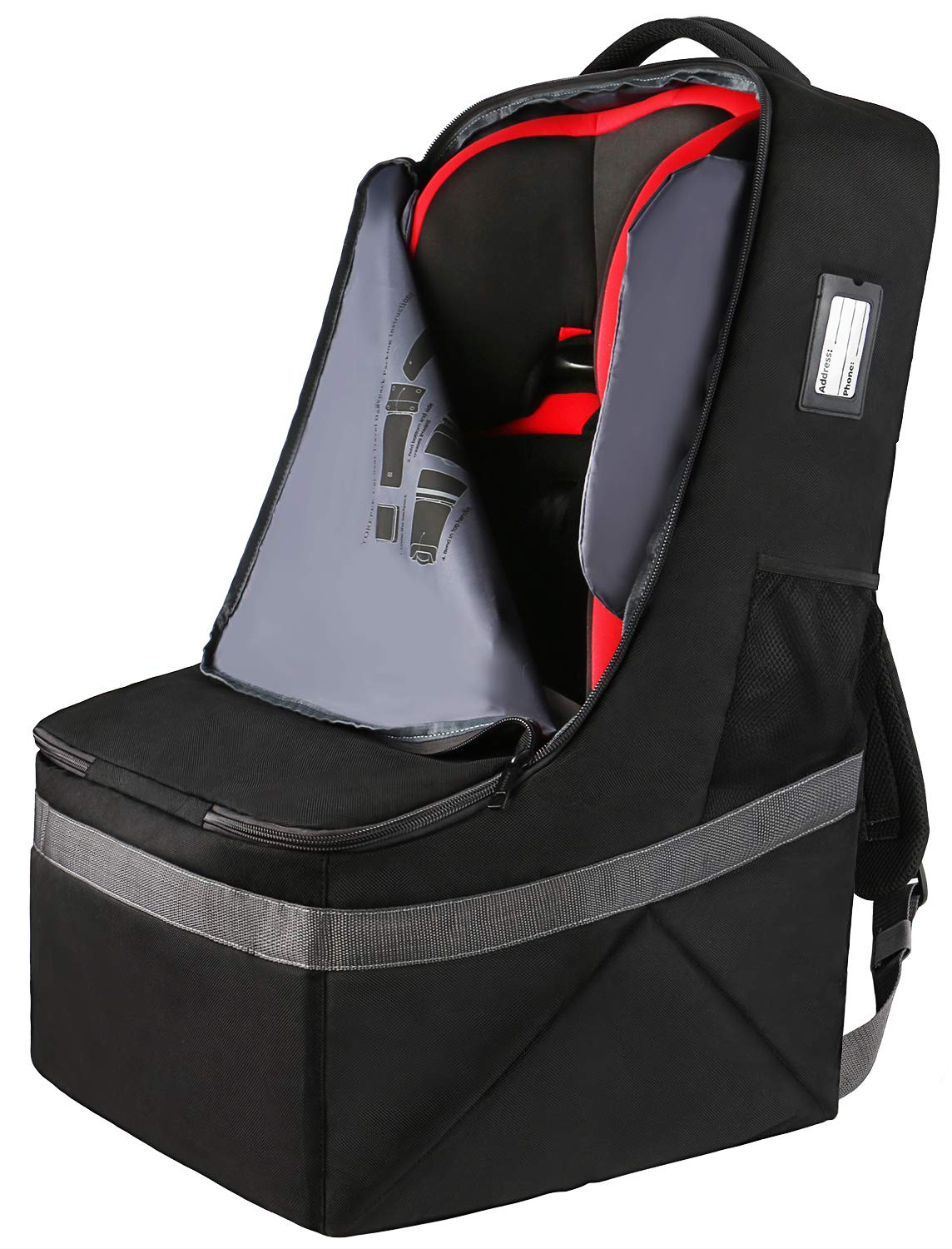 Amazon.com: Simple Being Padded Baby Car Seat Travel Bag ...