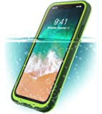 iPhone X Case, i-Blason [Aegis] Waterproof Full-body Rugged Case with Built-in Screen Protector for Apple iPhone X 2017 / iPhone10 Release (Frost/Green)