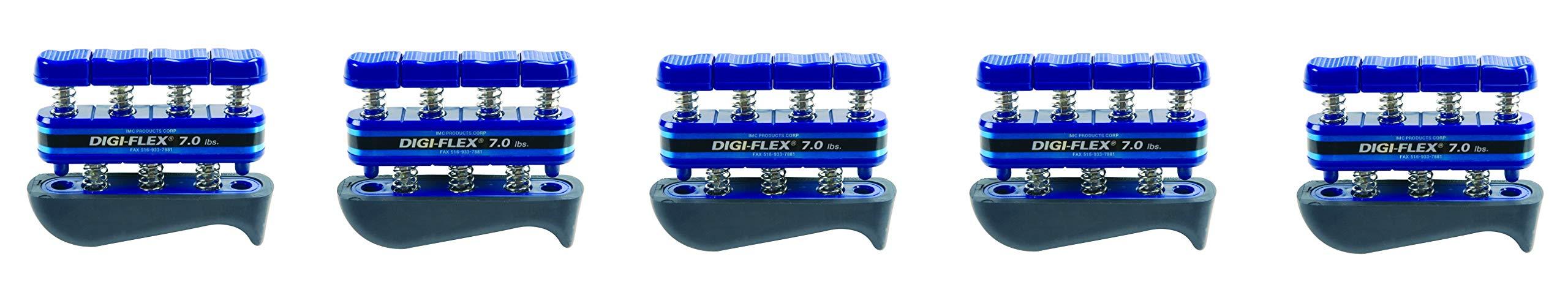 Digi-Flex Blue Hand and Finger Exercise System, 7 lbs Resistance (5-Pack)