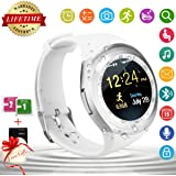 Bluetooth Smart Watch Waterproof Smartwatch Touch Screen Cell Phone Unlocked Watch Cell Phone Smart Wrist Watch Smartphone Watch Sports Fitness Activity Tracker For Android Samsung IOS Apple Iphone 8X 8 Plus 6S Iphone X Sony Men Women Kids