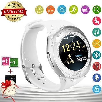 Bluetooth Smart Watch Teléfonos Reloj Inteligente Táctil Smartwatch Android