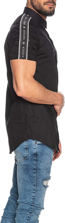 Sik Silk - Camisa Siksilk 15876 S/S Piped Tape Shirt Black ...