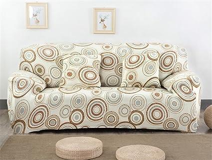 Fundas elásticas para sofá, tela, diseño de flores y pájaros, de la marca Getmorebeauty , Dream Circle, 4 Seater