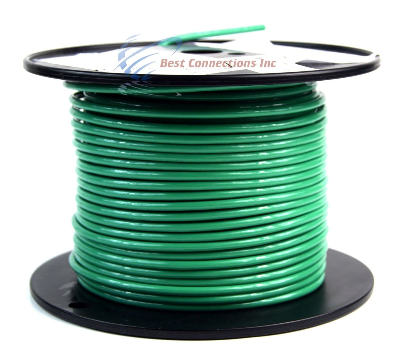 Amazon.com: 10 gauge AWG Green Ground Wire 50 ft Solid Copper UL ...
