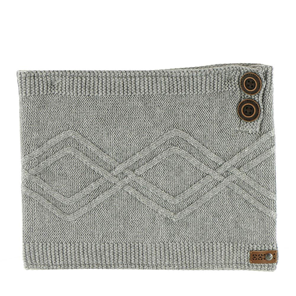 Roxy SNOW Junior's Frozen Jaya Snow Collar Neck Gaiter, Warm Heather Grey, 1SZ