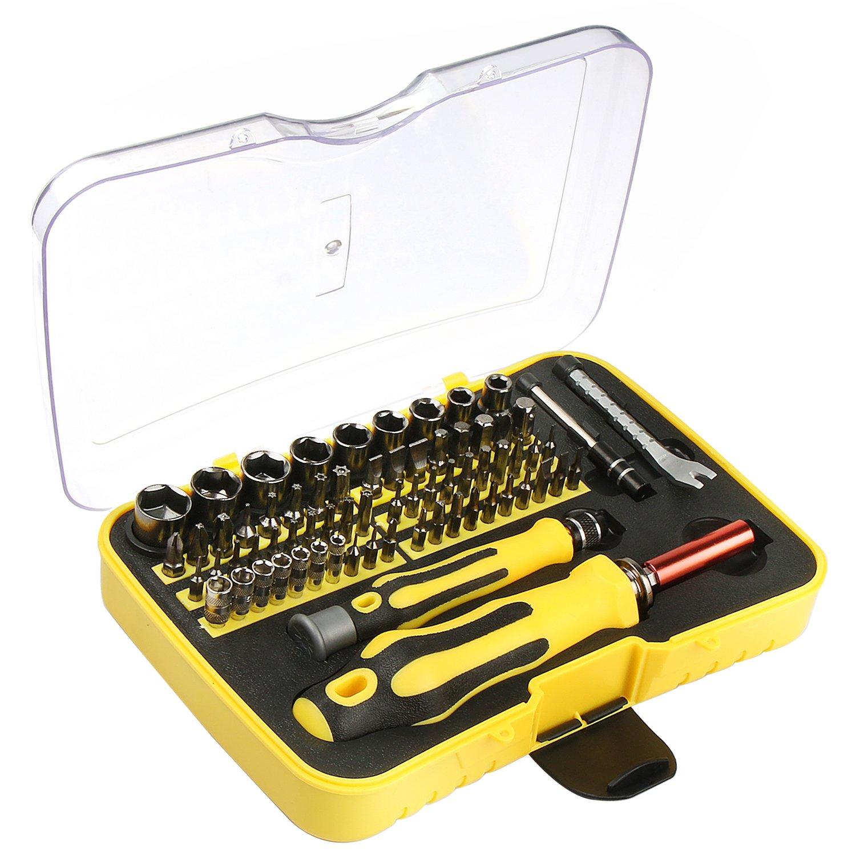 VOXON - Juego de Destornilladores de Trinquete Magnéticos Profesionales y Brocas, 71 Piezas product image