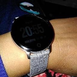 Reloj Inteligente Hombre Mujer, Qimaoo Smartwatch IP67 ...