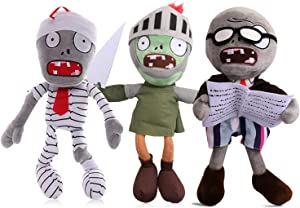 Maikerry 3 Pieces 12'' PVZ Plants vs. Zombies 1&2 Plush Figure Toy Doll,Great Gifts for Kids Birthday,Halloween and Christmas