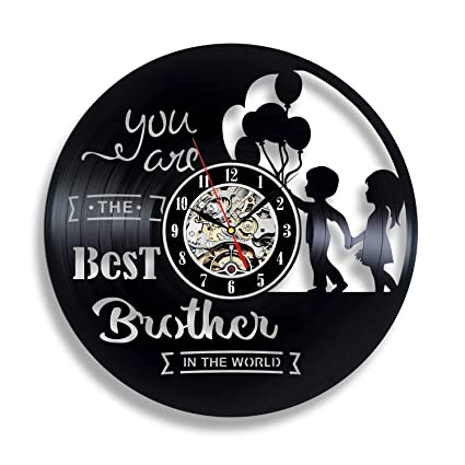 Brothers Vinyl Clock Gift Ideas With Love Christmas Decor Wall Art Gifts Twin Nursery Decorations Younger