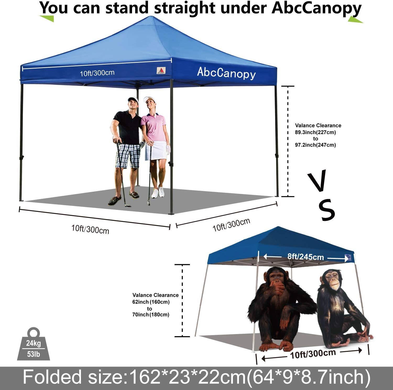 ABCCANOPY - Cenador de 3 x 3 m, Resistente al Agua, Carpa Plana, Carpa de jardín, Carpa con 4 Laterales + Bolso de Mano, Color Azul, tamaño 3x3: Amazon.es: Jardín