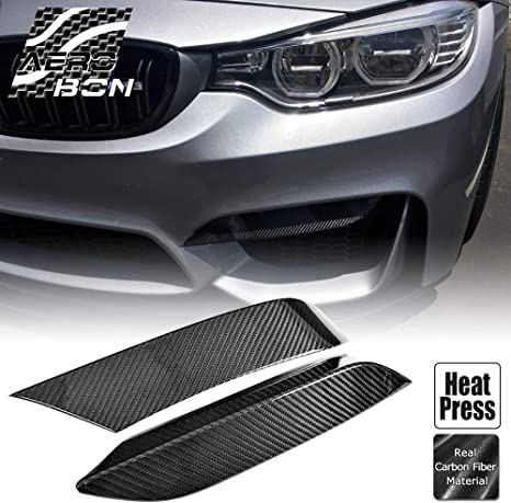 AeroBon Dry Carbon Fiber Parts Accessory Compatible with M-Power F80 M3// F82 M4// F83 M4 Rear Bumper Splitter