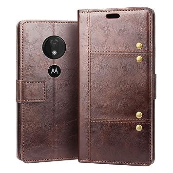 RIFFUE Funda Motorola Moto G7 Power, Suave Libro Piel con Tapa Cartera con Ranuras y Cierre Magnético Cover Case para Moto G7 Power: Amazon.es: Electrónica