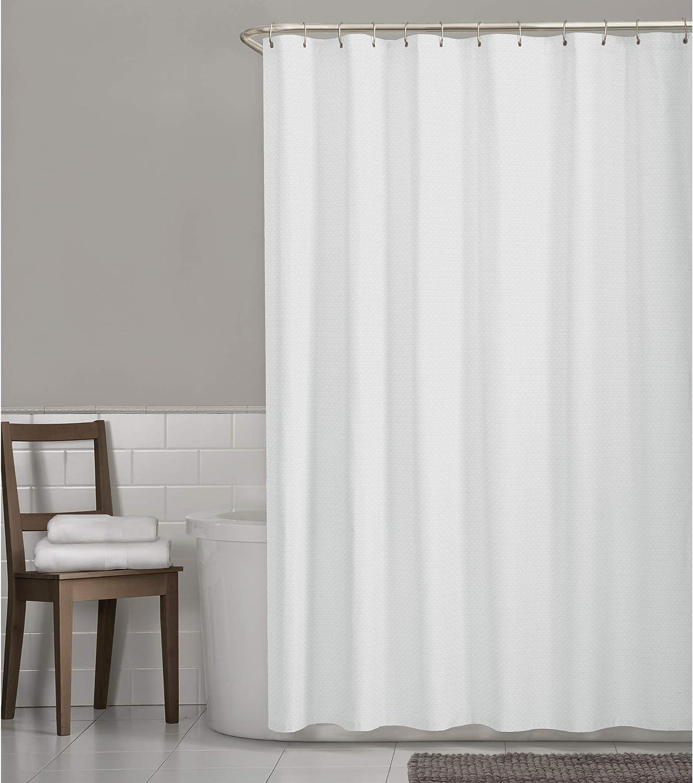 Zenna Home Hotel Waffle Weave Shower Curtain, White