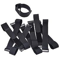 Hook and Loop Straps Cable Ties Organizer Fastener 300 mm x 25 mm, Black (10 Pack)