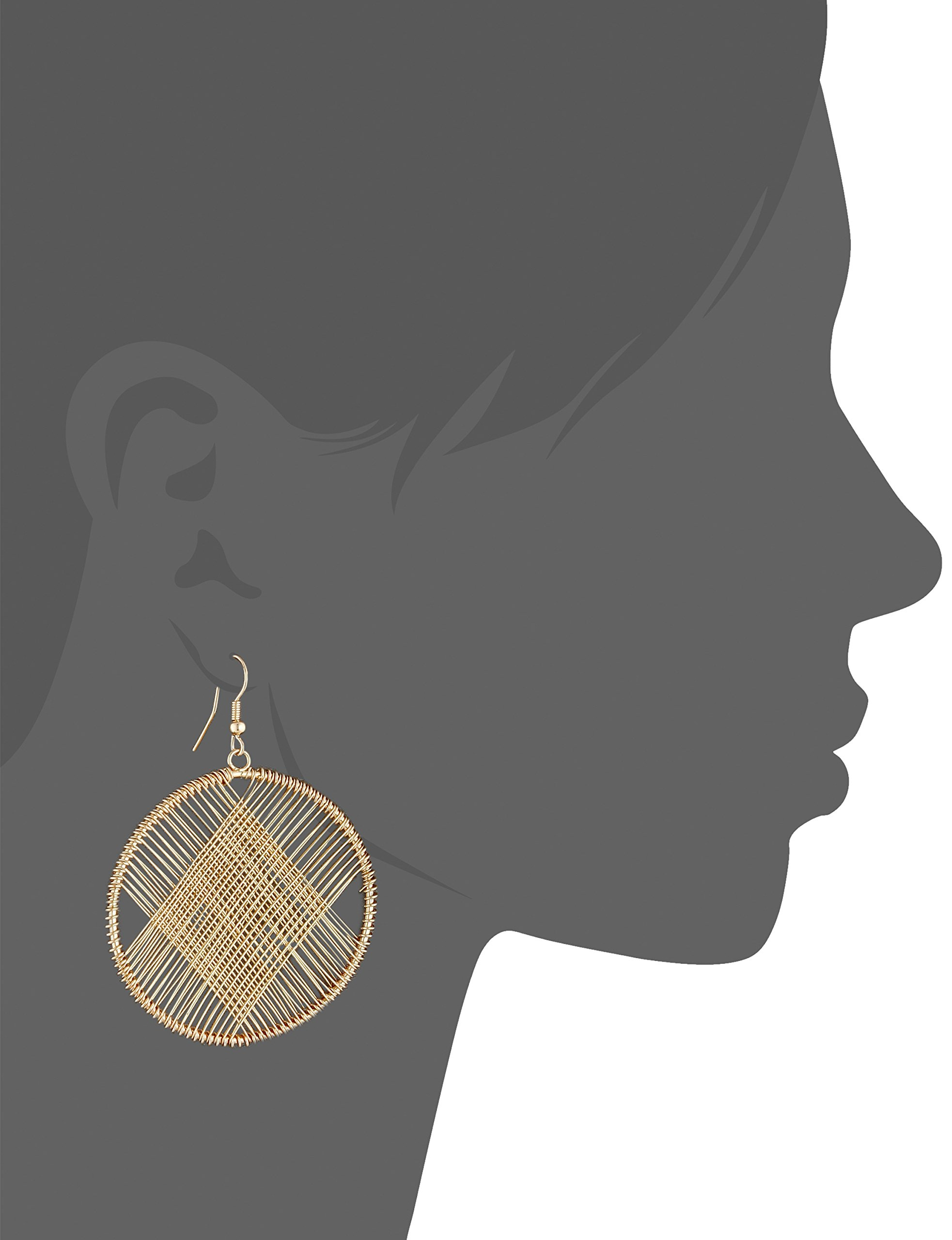 Kenneth Jay Lane Gold Circle Wire Earrings by Kenneth Jay Lane (Image #2)