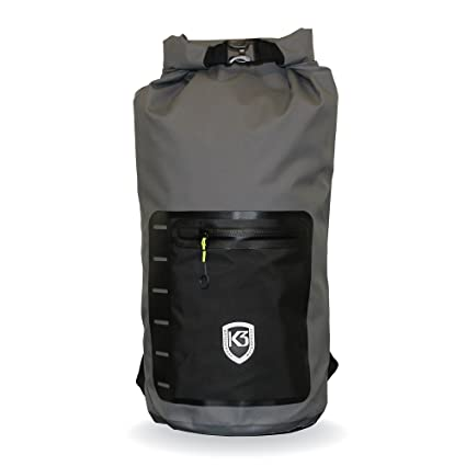a50ce58bbc Amazon.com   K3 Drifter Waterproof Dry Bag Backpack Grey 20 Liter ...
