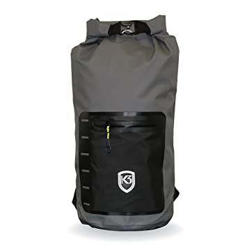 Amazon.com: K3 Drifter seco bolsa 20l mochila, Gris: Sports ...
