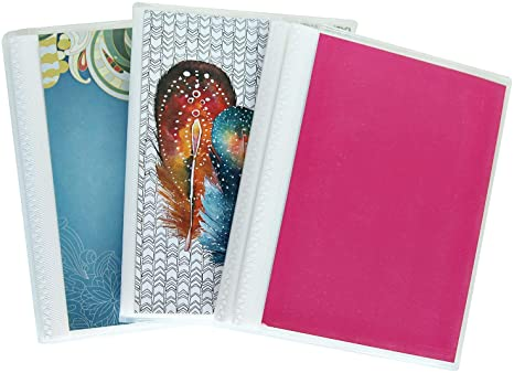 Cocopolka 4 X 6 Photo Albums Pack Of 3 Watercolors Each Mini Photo Album Holds Up To 48 4x6 Photos Removeable Flexible Covers Home Kitchen
