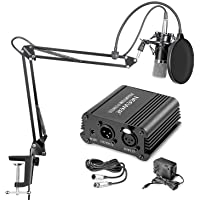 Neewer NW-700 Professional Condenser Microphone & NW-35 Suspension Boom Scissor Arm Stand with XLR Cable and Mounting…