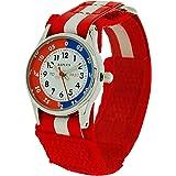 Reflex Time Teacher Red & White Easy Fasten Boys Girls Childrens Watch REFK0002