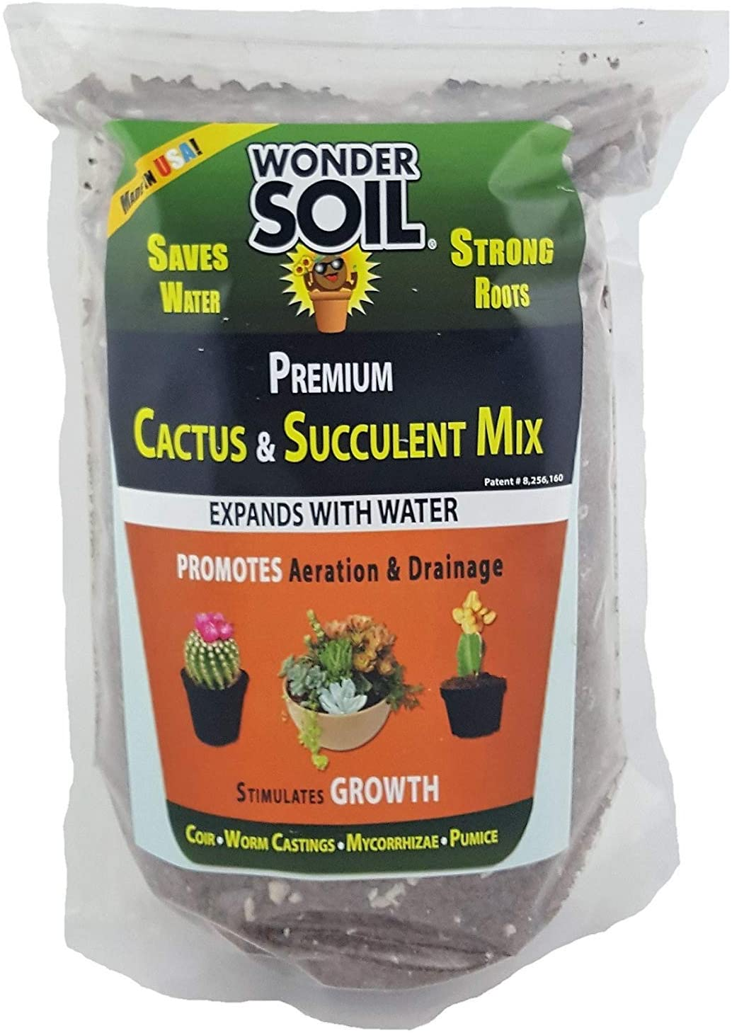 Wonder Soil | Premium Cactus Soil & Succulent Soil Mix. Nutrient Rich Coco Coir Expands 3 Lbs Bag to 12 Quarts of Indoor Outdoor Cactus & Succulent Potting Soil. Incl Worm Castings,Mycorrhizae,Pumice