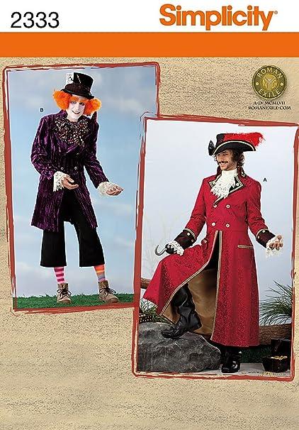 Amazon.com: Patrón de Simplicity 2333 Sew Disfraz de ~ para ...