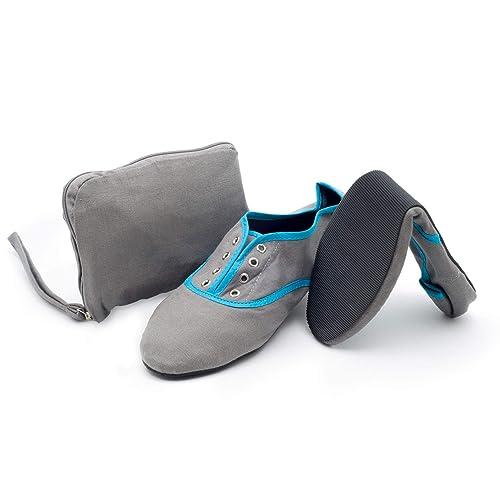 Greatonu Ladies Elastic Foldable Portable Pumps Bow Tie