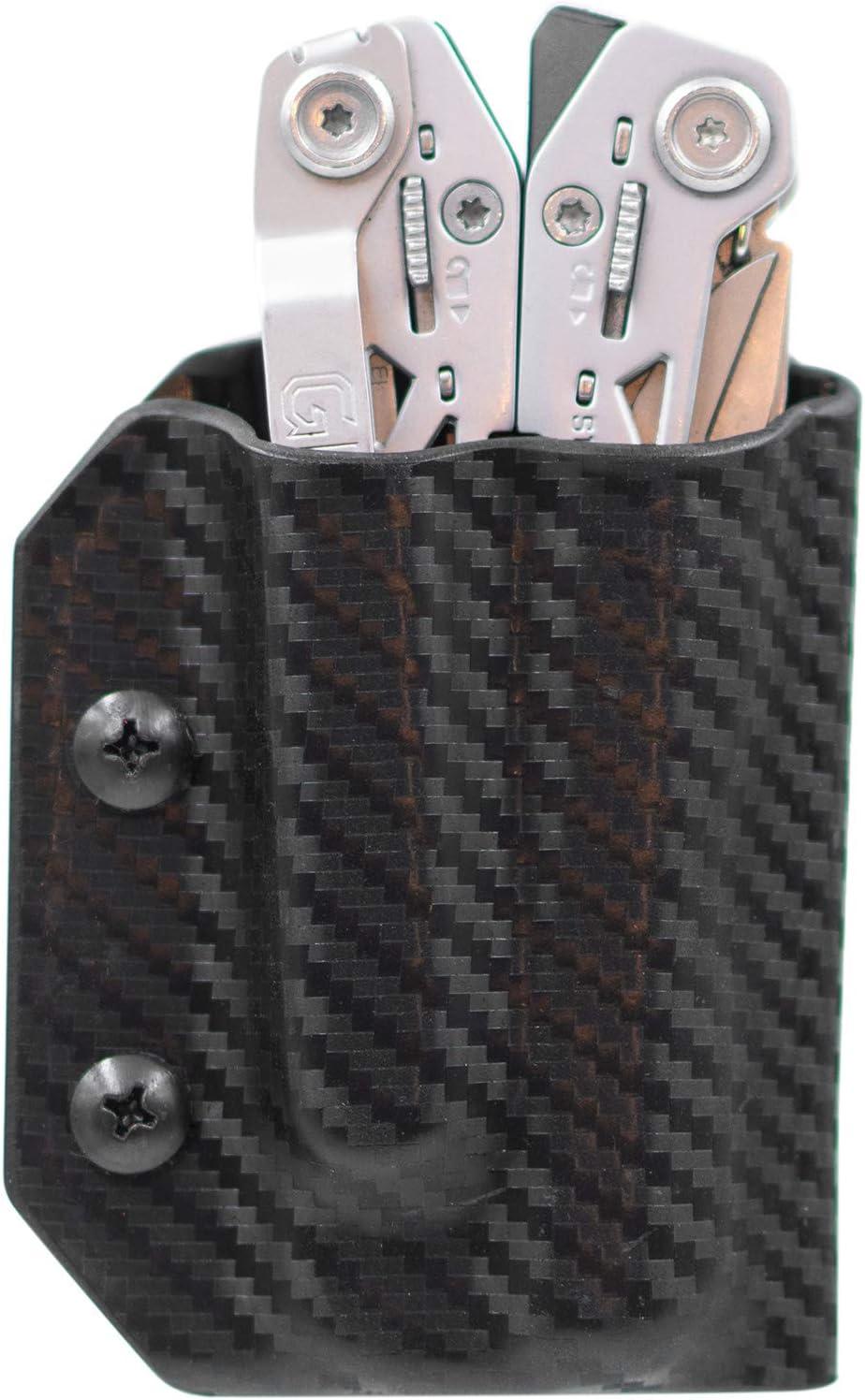 Kydex Multitool Sheath for Gerber SUSPENSION NXT – Made in USA – Multi Tool Sheath Holder Cover Belt Pocket Holster – Multi-tool not included Carbon Fiber Black
